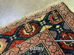 Vintage Oriental Rug 15'4 x 3'4 Hand Knotted Wool Saraband Long Runner Antique