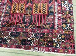 Vintage Oriental Runner Rug 3X7 Hand Knotted 100% Wool Pile Carpet