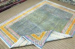 Vintage Oriental Saraband Mir Area Rug 8X11FT Hand Knotted 100% Wool Pile Carpet