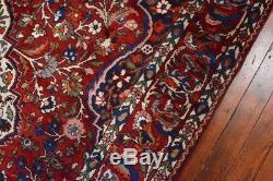 Vintage Persian Bakhtiari Rug, 7'x10', Red/Red, All wool pile