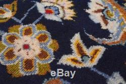 Vintage Persian Classic Floral Design Rug, 10'x13', Blue/Blue, All wool pile