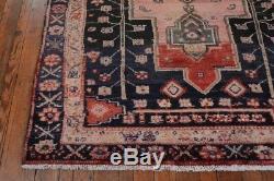 Vintage Persian Hamadan Design Rug, 5'x7', Rose/Blue, All wool pile