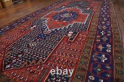 Vintage Persian Hamadan Design Rug, 5'x9', Red/Blue, All wool pile