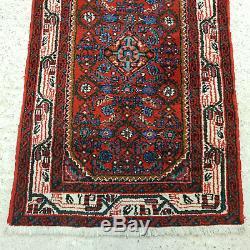Vintage Persian Hamadan Handwoven Rug 4'1x2'6 (124x77cm)