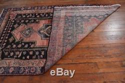 Vintage Persian Hamadan Rug, 5'x7', Rose/Blue, All wool pile