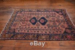 Vintage Persian Hamadan Rug, 5'x7', Rose/Brown, All wool pile