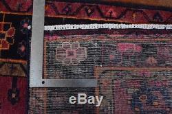 Vintage Persian Hamadan Rug, 5'x8', Rose/Black, All wool pile