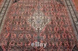 Vintage Persian Hamadan Rug, 7'x10', Pink/Ivory, All wool pile