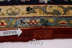 Vintage Persian Hand Knotted 9' X 13' 100% Wool Rug