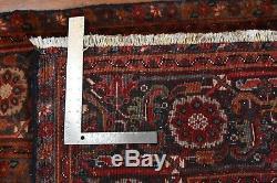 Vintage Persian Heriz Design Rug, 8'x10', Red/Blue, All wool pile