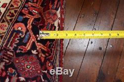 Vintage Persian Heriz Goravan Rug, 8'x11', Red/Black, All wool pile