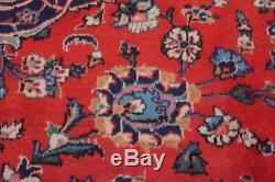 Vintage Persian Kashan Rug, 10'x13', Red/Blue, All wool pile