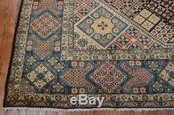 Vintage Persian Kashan Rug, 10'x14', Blue/Light Blue, All wool pile