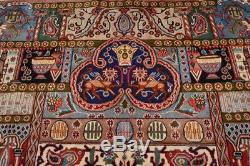 Vintage Persian Kashmar Design Rug, 10'x13', Multi Color, All wool pile