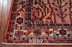 Vintage Persian Koliai Rug, 5'x8', Rose/Ivory, All wool pile
