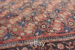 Vintage Persian Mahal Rug, 7'x10', Red/Blue, All wool pile