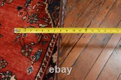 Vintage Persian Malayer Rug, 4'x6', Red/Black, All wool pile