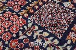 Vintage Persian Najafabad Design Rug, 10'x13', Blue/Blue, All wool pile
