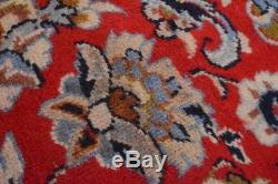 Vintage Persian Najafabad Rug, 10'x14', Red/Blue, All wool pile