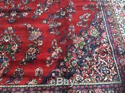Vintage Persian Rug Palace Size 21 X 12 Wool Pile Handknotted