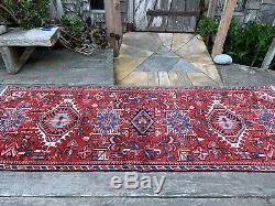 Vintage Persian Runner Rug 3x9 Kardja Tribal Oriental Runner Rug #425