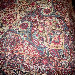 Vintage Ralph Lauren Oriental Persian Rug Pattern Queen Full Comforter Rare EUC