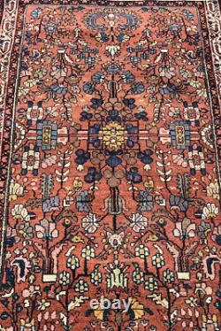 Vintage Shabby Chic Worn Boho Hand-knotted Carpet / Rug 100% Wool (6.5 x 3.5)
