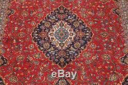 Vintage Traditional Floral Oriental Area Rug Hand-Knotted Wool RED Carpet 10x13