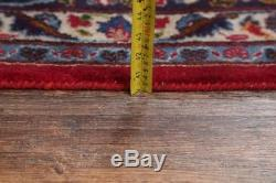 Vintage Traditional Floral Red 10x13 Signed Kashmar Persian Oriental Area Rug