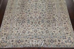 Vintage Traditional Floral SAGE GREEN Oriental Area Rug Hand-Knotted Wool 10x13