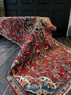 Vintage Traditional Handmade Eastern Rug