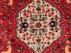 Vintage Traditional Persian Shiraz Rug Wool Oriental HandMade Rug 280x197 cm