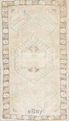 Vintage Tribal MUTED Oushak Turkish Distressed Oriental Kitchen Rug Wool 2' x 3