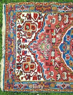 Vintage collectable WOOL PERSIAN ORIENTAL hand knotted RUG CARPET 80x205cm RARE