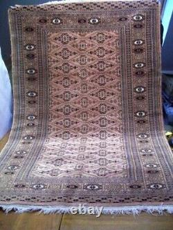 Vintage rug carpet oriental wool hand knotted -Bokhara 150 x 97cm