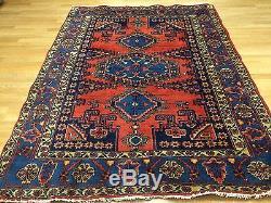 Voluptuous Viss 1960s Vintage Persian Rug Tribal Carpet 5.4 x 7.2 ft