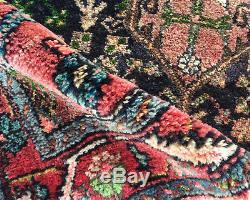 Vtg PERSIAN HAND KNOTTED SHIRAZ YALAMEH SERAPI HERIZ WOOL ORIENTAL RUG 4x6