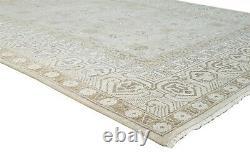 Wool / Silk Grey Rug 8' X 10' Persien Hand Knotted Kazak Oriental 7'9X9'11